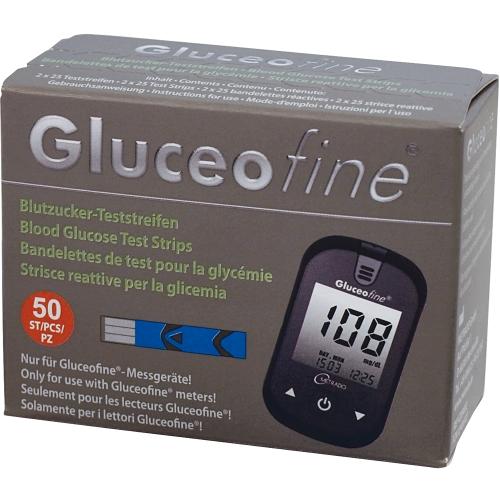 GLUCEOFINE Blutzucker-Teststreifen