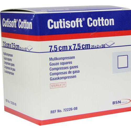 CUTISOFT Cotton Kompr.7,5x7,5 cm ster.12fach