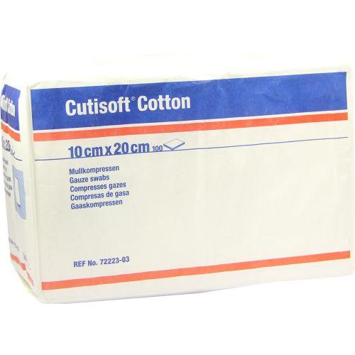 CUTISOFT Cotton Kompr.10x20 cm unster.8fach