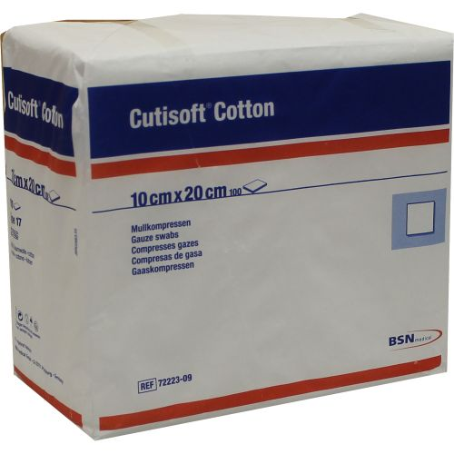 CUTISOFT Cotton Kompr.10x20 cm unster.12fach