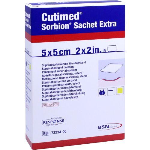CUTIMED Sorbion Sachet Extra Wundaufl.5x5 cm