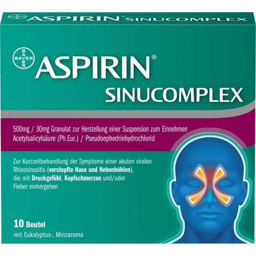 ASPIRIN SINUCOMPLEX 500mg/30mg Gra.Sus.-Herst.Btl.