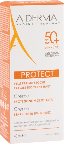 A-DERMA PROTECT LSF 50+ CREME OHNE DUFTSTOFFE