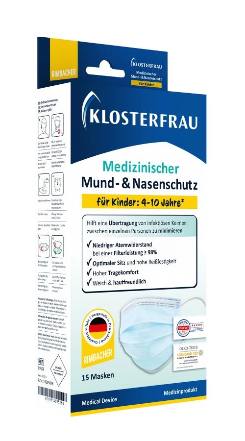 KLOSTERFRAU Med. Mund- & Nasenschutz für Kinder